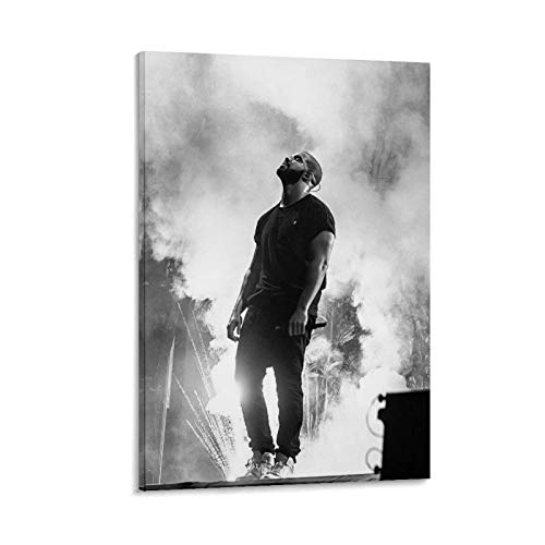 MNUW Póster de Drake Concert with Smoke de arte de pared con imagen impresa moderna para habitación familiar, 20 x 30 pulgadas (50 x 75 cm)