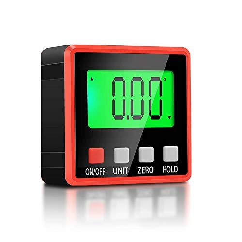 BRAVE デジタル角度計 傾斜計 レベル 水平器 DIY レベラー マグネット付き LCDバックライト付き 絶対角度 相対角度 MV-DEKOKEG