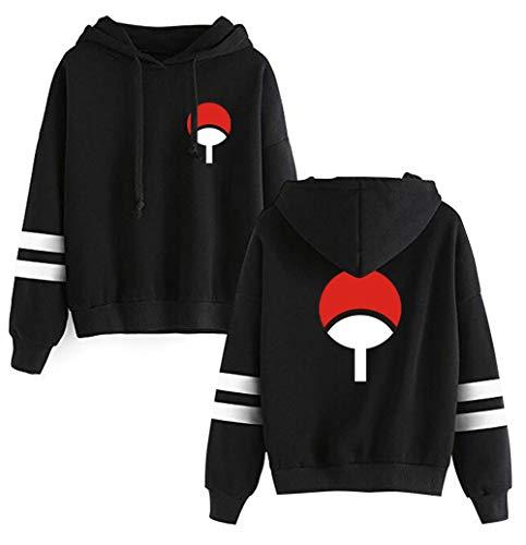 HAOSHENG Jungen Kapuzenpullover Naruto Manga Japanische Ninja Anime Uchiha Casual Streetwear Hoodie(M)