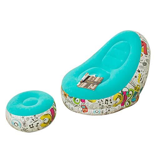 Lazy - Puf hinchable para decorar el hogar, para el salón, dormitorio, al aire libre, viajes, camping, picnic, niños y adultos