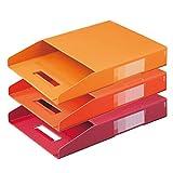 プラス ボックスファイル A4 デジャヴ FL-027BF-3P 87-692 ウォームトーン3色組