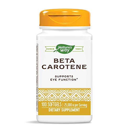 Nature's Way Natural Beta Carotene, 25,000 IU per Serving, 100 Softgels