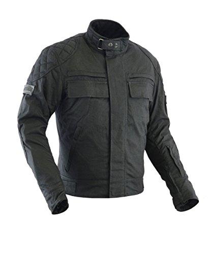 Motorrad Jacke Herren, XXL, Schwarz