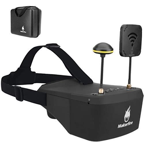 Makerfire Gafas FPV 5.8Ghz con DVR 5 Pulgadas 40CH 800 * 480 Auriculares FPV Batería incorporada 3.7V 2000mAh para FPV Racing Drone Quadcopter