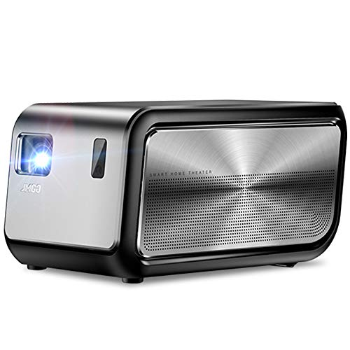 JMGO J6S 1080P 4K Projector with Android, 1100 ANSI (7000 lumens) DLP Home Cinema Video Projector, Smart Projector Support 3D Video, Dual 10W Bluetooth Stereo Speakers