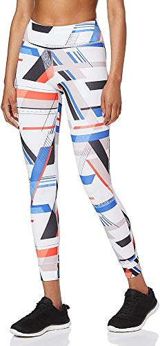 Reebok Damen Os Lux Bold Tight-Vorta Leggings, weiß, M