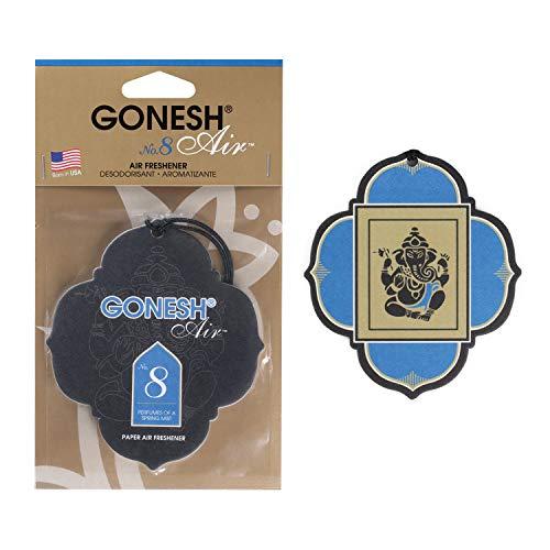 GONESH(ガーネッシュ) 吊り下げ型芳香剤 ペーパーエアフレッシュナー No.8(フルーツ系の香り) 96mm×3mm×170mm