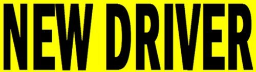 Rayna Creations New Driver Sticker Decal Sign for Rookie Drivers, Removable Back Glue, not a Magnet Sign.