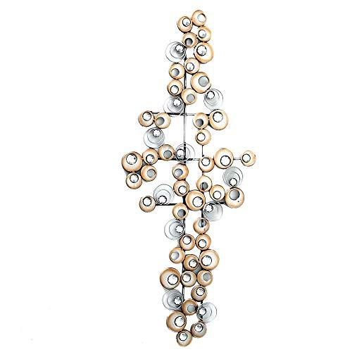 Boltze Design Wand Objekt Eisen Bild Kristall Kreis Muster Dekoration Behang Champagner 7641800