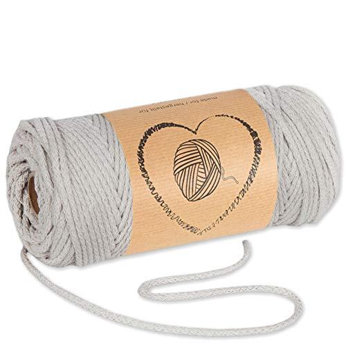 hilo macrame 3 mm trapillo bobinas - cuerda algodon cordon para trenzado tejer a crochet manualidades