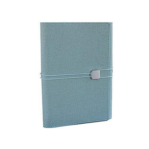 aedouqhr Bloc de Notas Cuaderno A5 Multifunción Cuaderno de Tres Hojas Sueltas Cuaderno 100 para reuniones de Negocios Cuaderno con Correa Bloc de Notas (Color: E, Tamaño: 16.8 * 23cm)