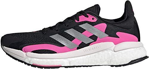 adidas Solar Boost 21 W, Zapatillas para Correr Mujer, Core Black/Screaming Pink/Halo Silver, 40 2/3 EU