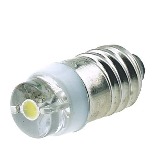 Do!LED 0,6 Watt E10 LED Cree Birne Schraubsockel, Wechselstrom- und Gleichstrombetrieb AC/DC