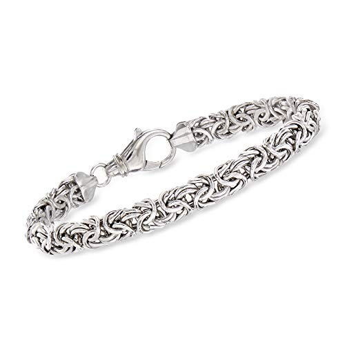 Ross-Simons Sterling Silver Small Byzantine Bracelet. 7 inches