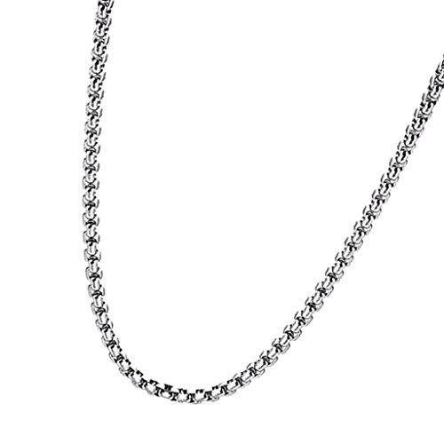 Colcolo Collares de Cadena de Eslabones con Cierre de Langosta de Acero Inoxidable 60cm / 23.6 Collar de Cadena DIY - 5x600 mm
