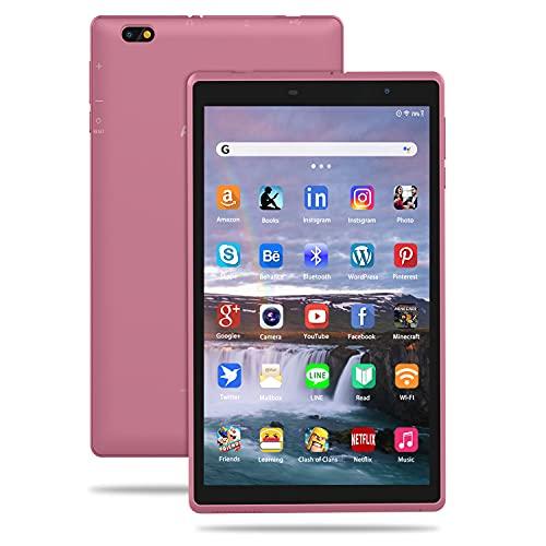 Tablet 8 Pollici Android 10.0 Google Certificazione GMS Tablet PC, 3GB RAM+32 128GB ROM,Tablet per Bambini con Fotocamera da 5MP, Tablet Offerte Supporta, Bluetooth FM e Wi-Fi (Rosa)