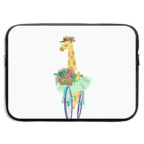 Waterdichte Laptop Sleeve Pocket Case Giraffe in Een Rok Cover voor Alle Computer Notebook 15 Inch
