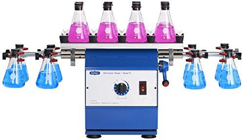 Burrell Scientific 075-765-16-36 Wrist Action Shaker with Top Platform, Model 75-BT, Blue/White