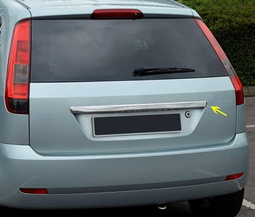 Para Fiesta V (5) 2002-2009 cromo tapa del tronco trasero cubierta de la tira de moldura placa de moldura de acero inoxidable