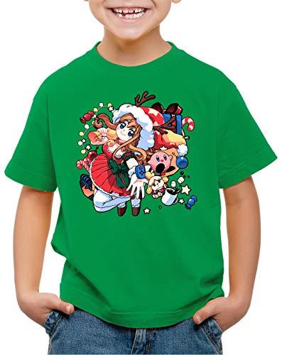 A.N.T. X-mas Gamer Girl Suéter de Navidad Camiseta para Niños T-Shirt Sweater x-mas SNES,...