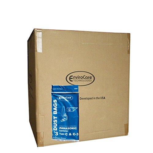 150Panasonic tipo C bolsas de vacío C-3C3Allergy, botes aspiradoras, MC-125P, mc125p, mc771, mc772, mc8310, mc8320, mc8330