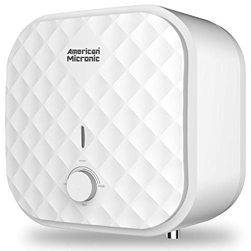 AMERICAN MICRONIC INSTRUMENTS - AMI-WHP-10LDx- 10-litres Water Heater, 8 Bar Pressure Titanium Enamel Glass Lined Tank with Magnesium Anode (White)