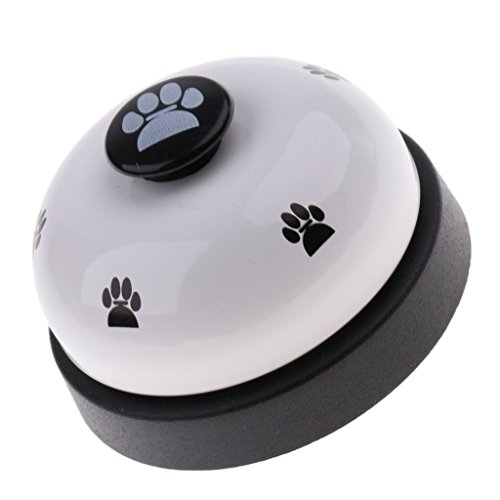 B Blesiya Hund Trainingsglocke Tischglocke Hundeglocke für Kommunikationstraining und Töpfchen Training, 7,2x5 cm - Weiß