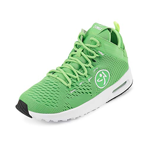 Zumba Air Classic Remix High Top Gym Shoes Dance Fitness Workout Shoes for Women, Green 0, 12