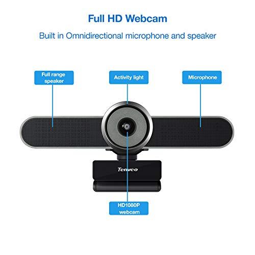 Tenveo VA200pro Webcam 3-in-1-Full-HD-1080p-Kamera für Videokonferenzen, Aufzeichnung und Streaming (grau)
