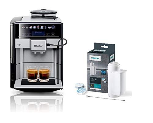 Siemens EQ.6 plus s700 Kaffeevollautomat TE657503DE, automatische Reinigung, Direktwahl + Pflegeset TZ80004A, optimale Reinigung, gründliche Entkalkung, für Kaffeevollautomaten der EQ.Serie