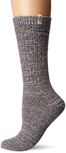 UGG Women's Rib Knit Slouchy Crew Sock Nightfall O/S