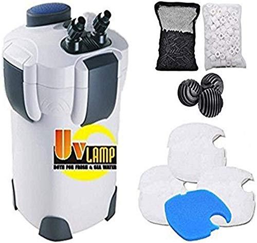 professional SunSun Canister Kit Hw303B370GPH Pro with 9 Watt UV Sterilizer