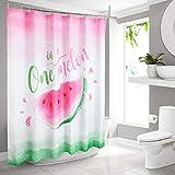 WERNNSAI Wassermelone Duschvorhang – Polyester Badezimmer Duschvorhänge wassermelone