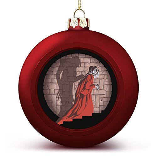 VNFDAS Drácula Shadow Mismatch Personalizado Bola de Navidad Adornos Bellamente Decorados Bola de Navidad Gadgets Perfecto para colgar bola para día festivo boda fiesta decoración