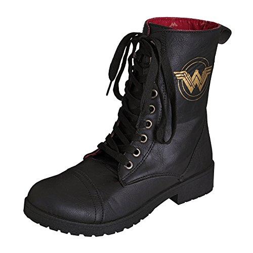 Wonder Woman Damen Boots Stiefel Logo DC Comics schwarz - 37