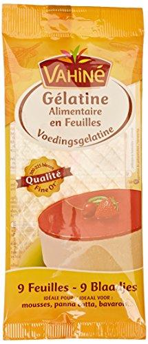 Vahine 9 Feuilles de gélatine alimentaire 17 g