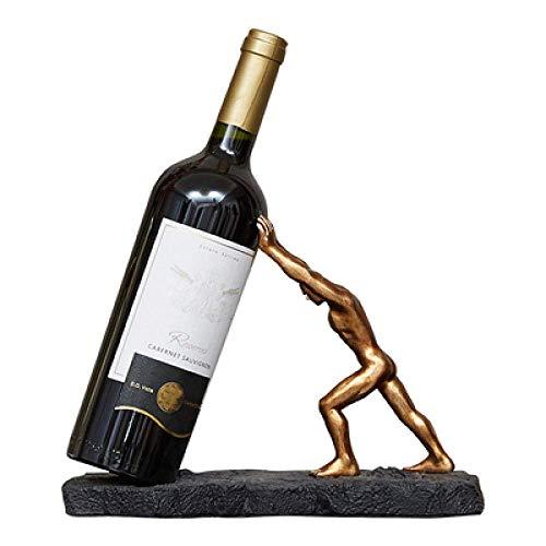BINGFANG-W Decoración Decoraciones del Arte del Arte del Vino del Estante de exhibición for Colgar la decoración del hogar Vino Enfriador de Vino Pared de la Botella Mesa de Comedor estatuas