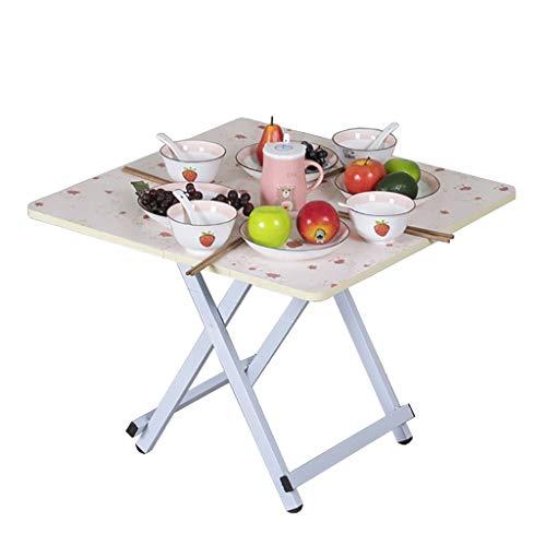 Mesa plegable, mesa de comedor cuadrada, mesa de café, mesa de estudio, mesa de picnic portátil, para hogar, dormitorio, exterior, 68 x 68 x 54 cm