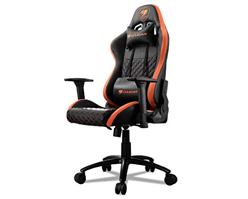COUGAR Armor Pro Gaming Chair with a Steel Frame, Breathable Premium PVC Leather and Micro Suede-Like Texture (Orange/Black)