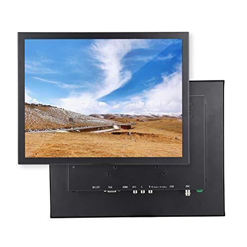 logozoe Monitor, Schermo da 15 '', CCTV 1024 x 768 per la Sicurezza del Drone della Telecamera per PC(European regulations)