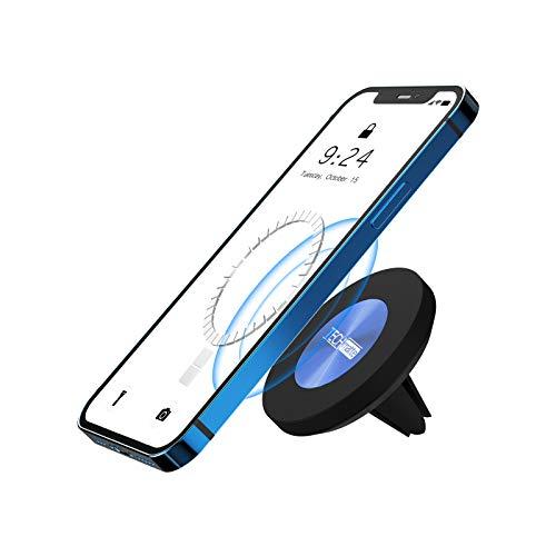 TechMatte Soporte Magnético para Teléfono con Ventilación para Automóvil, Soporte Coche para iPhone 13/12/Pro/Pro MAX/Mini y Compatible con MagSafe Case, Soporte para Teléfono con Imán Fuerte Air