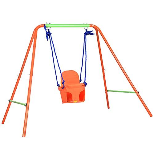 ALPIKA Toddler Swing, Heavy-Duty Infant - Toddler Swing for Garden Backyard Playground, 6M