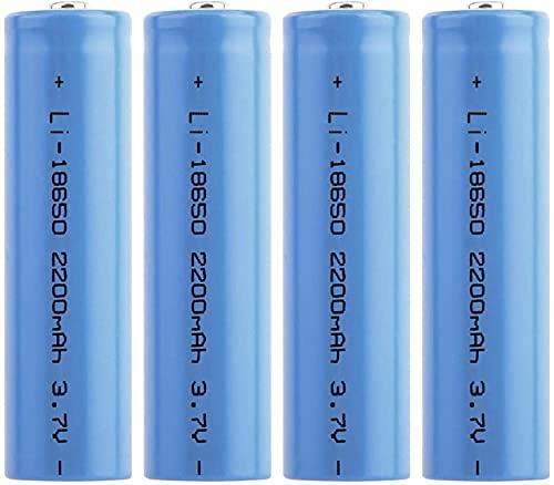 18650 Batería Recargable3 7V Batería doméstica Bateríacilíndrica Puntiaguda2200mAh Carga de Iones deLitio deGran Capacidad para LinternaTimbresFarosDelanteros Coches RC, etc.