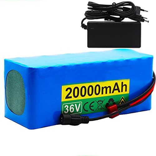 HJGHY 10S4P 36V 20Ah 500W batería de Alta Potencia 42V 20000mAh 18650 Paquete de batería de Litio Ebike Bicicleta eléctrica con Cargador BMS +