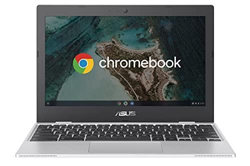 ASUS Chromebook CX1100CNA-GJ0036, Notebook con Monitor 11,6' HD Anti-Glare, Intel Celeron N3350, RAM 4GB, 32GB eMMC, Sistema Operativo Chrome, Argento
