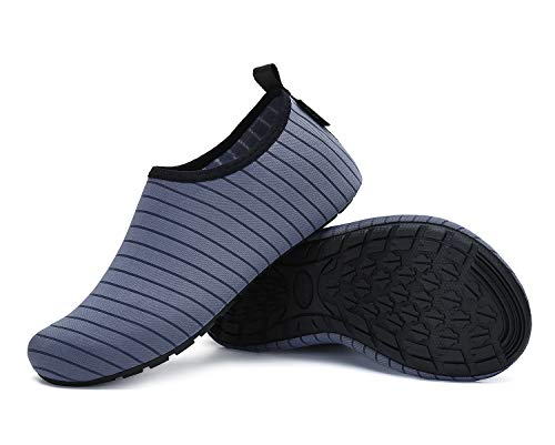 SAGUARO Pantoufle Eté Homme Chaussons Femme Léger Antidérapantes Unisex Chaussures Maison,gris,40/41 EU