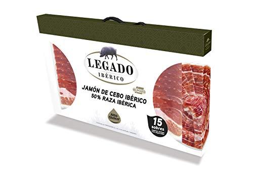 ElPozo Legado Ibérico Estuche De Jamón De Cebo Ibérico (50{debb39a8268829dd32fa7114dead5cccf27ba0cd8596bc50c2e8c96a932cd2e2} Raza Ibérico), Cortado En Medias Lonchas Con Separador, 15 Sobres De G, 900g Total, Jamón Ibérico, 60 Gramo