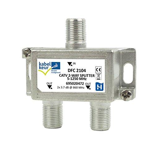 Hirschmann CATV-Splitter 3.5 dB / 5-1250 MHz - 2 Uitgangen