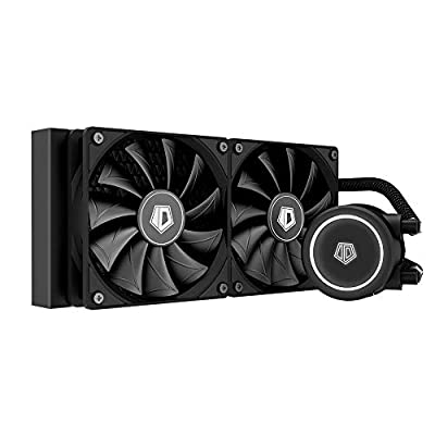 ID-COOLING FROSTFLOW X 240 CPU Water Cooler AIO Cooler 240mm CPU Liquid Cooler White LED 2x120mm PWM Fans, Intel 115X/2066, AMD TR4/AM4