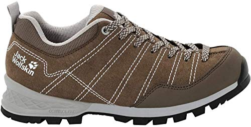 Jack Wolfskin Damen Scrambler Low W 4036671 Walking-Schuh, Coconut Brown/Light Grey, 38 EU